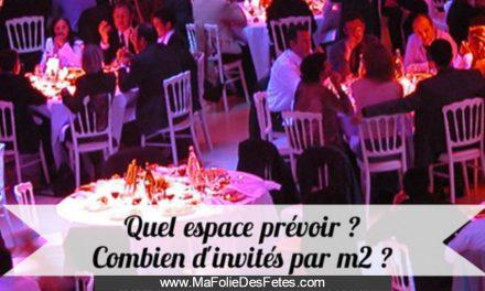 ★ Quel espace prévoir ? Combien d'invités par mètre carré ? ★