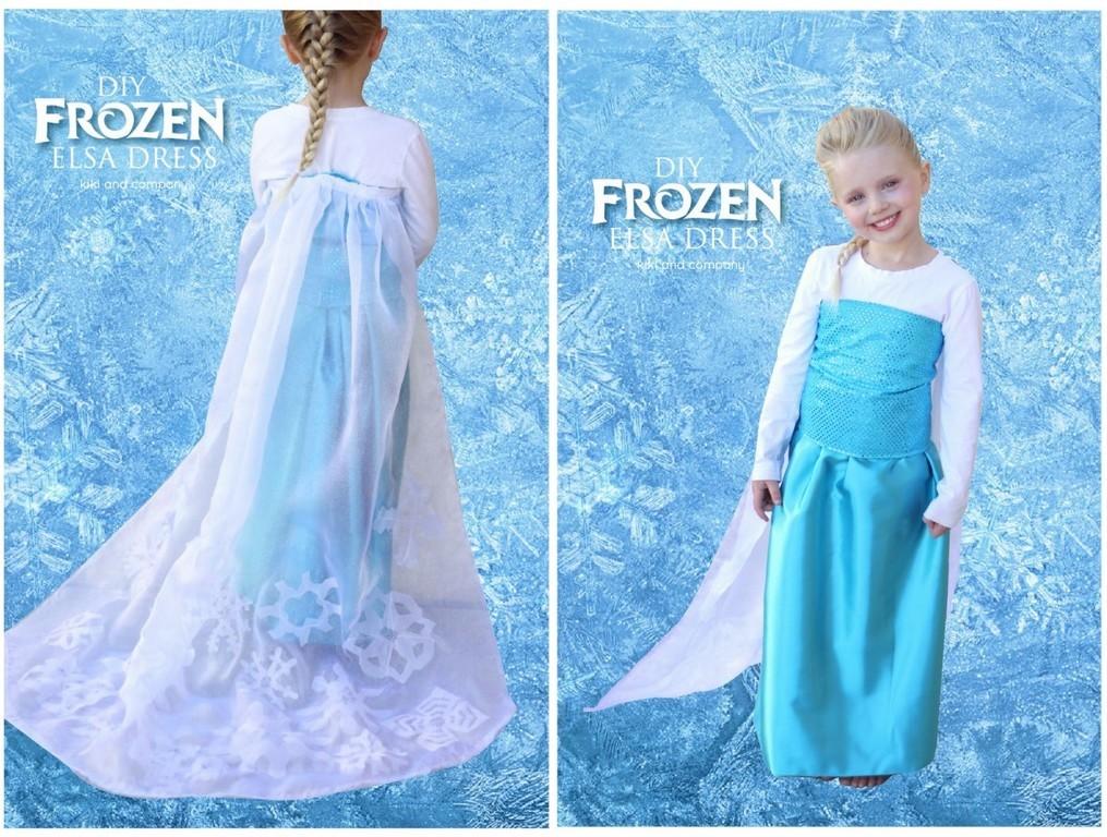 10 diy tuto costume enfant elsa la reine des neiges frozen ma folie des f tes - Veilleuse reine des neiges ...