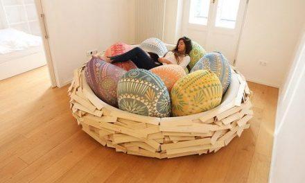 Cocooning dans un grand nid douillet