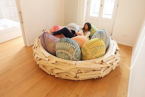 Cocooning dans un grand nid douillet (1) - Ma Folie Des Fêtes