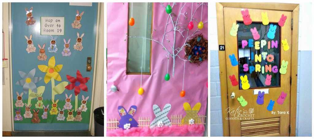 Photo 17 Pâques décoration de porte de classe lapin - Ma Folie Des Fêtes