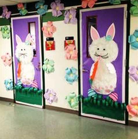 Photo 4 Pâques décoration de porte de classe lapin - Ma Folie Des Fêtes