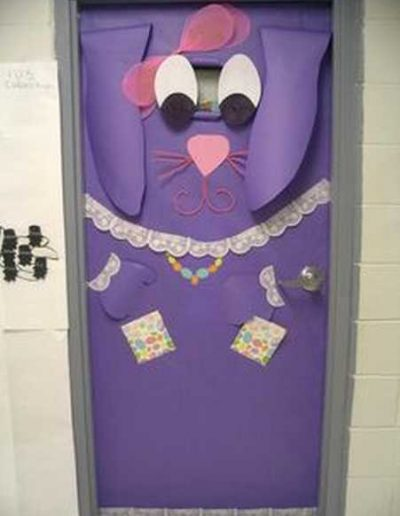 Photo 9 Pâques décoration de porte de classe lapin - Ma Folie Des Fêtes