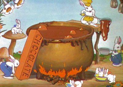 Petits lapins joyeux font fondre le chocolat - Ma Folie Des Fetes