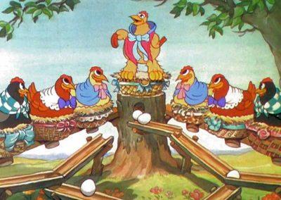 Poules qui pondent pour les Petits Lapins Joyeux - Ma Folie Des Fetes