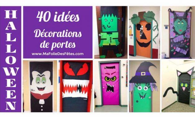 Décorations de porte de classe pour Halloween