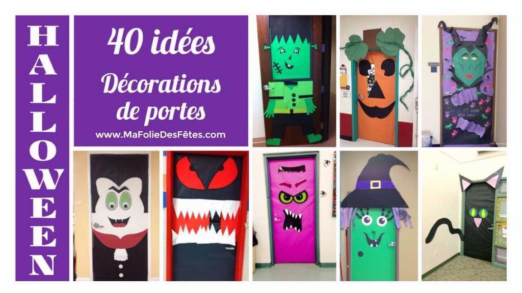 Decorations De Porte De Classe Pour Halloween Ma Folie Des Fetes