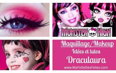 ★ DIY – Maquillage Draculaura Monster High : Idées et tutos makeup ★