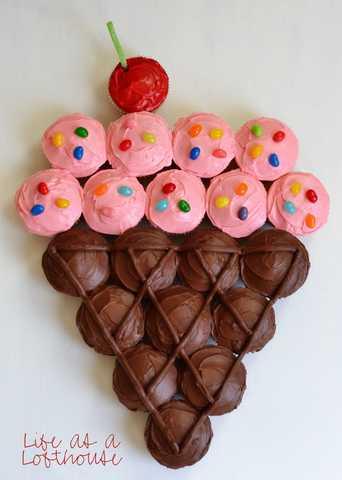 Gâteau cupcakes Glace
