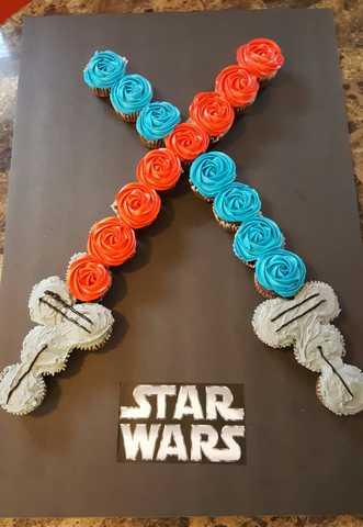 Gâteau cupcakes Star wars
