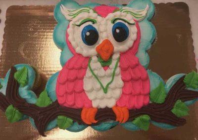Gateau cupcakes Hibou