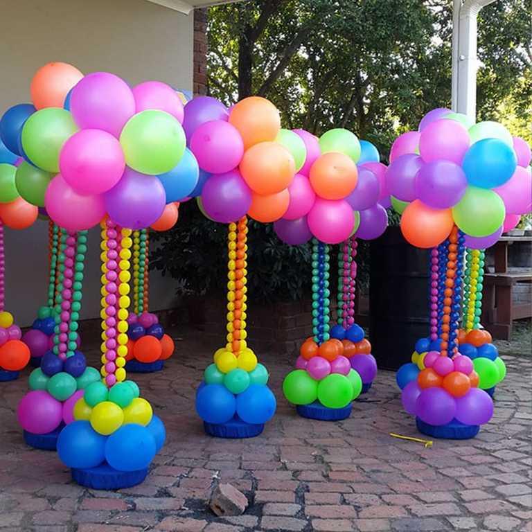 Topiaires de ballons colores - Ma Folie Des Fetes