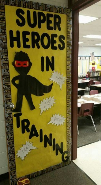 Décoration Portes de classe Super-héros - photo 5