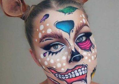 Maquillage de Zombie Pop art au double visage (Doyouevenblend)