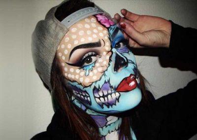 Maquillage de Zombie Pop art au double visage (MuaSarak)