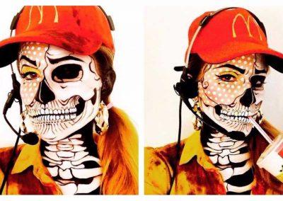 Maquillage de Zombie Pop art au double visage (VanessaDavis)