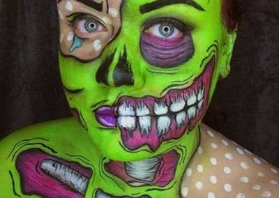 Maquillage de Zombie Pop art au double visage by Kate - Ma Folie Des Fetes