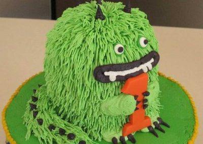 Gâteau monstre rigolo décoration poche à douille - (15)