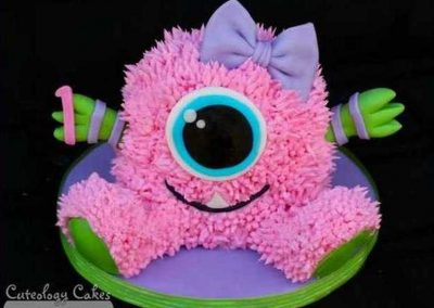 Gâteau monstre rigolo décoration poche à douille - (20)