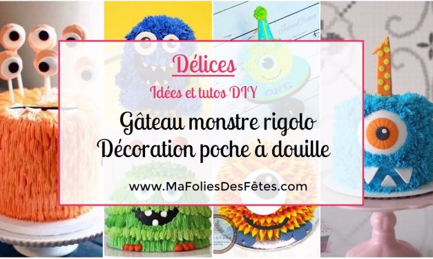 ★ DIY – Faire un Gâteau monstre rigolo Décoration poche à douille ★ Idées et Tutos