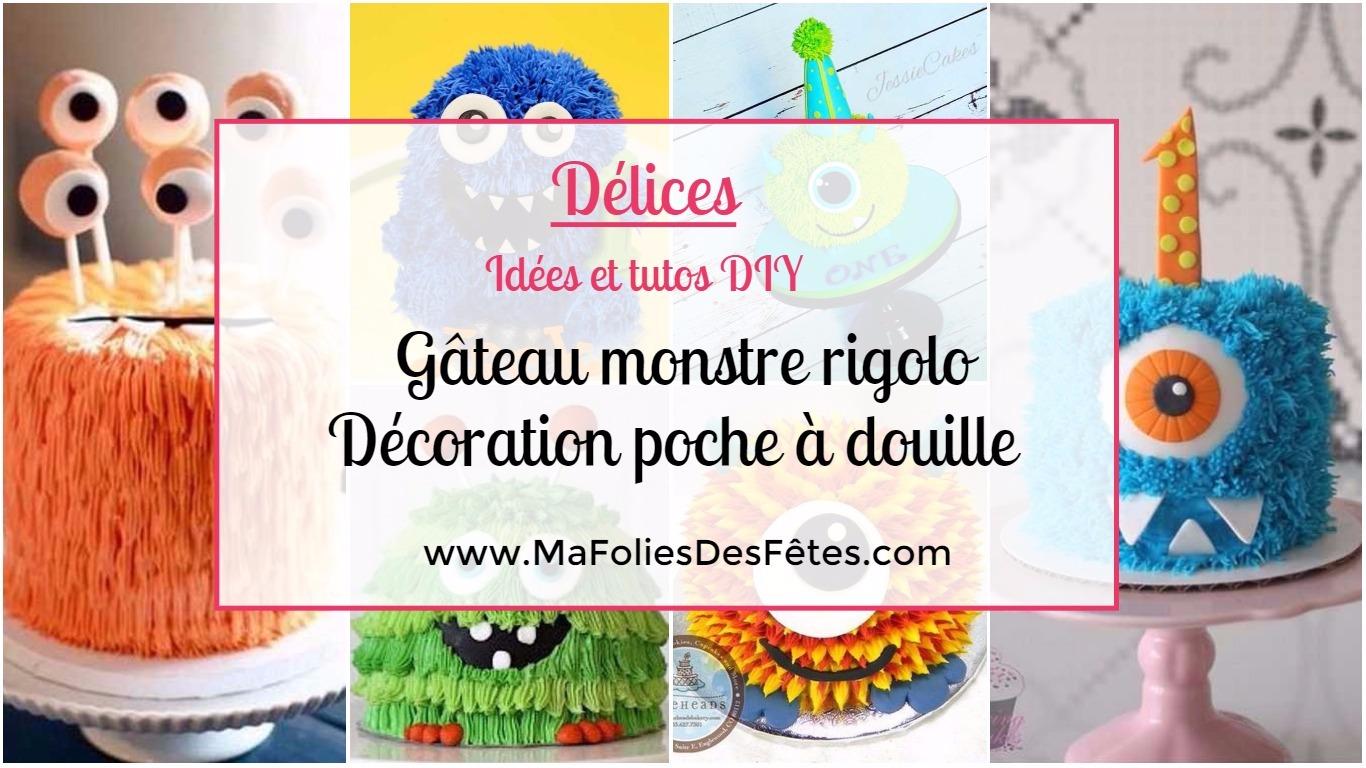 Diy Faire Un Gateau Monstre Rigolo Decoration Poche A Douille