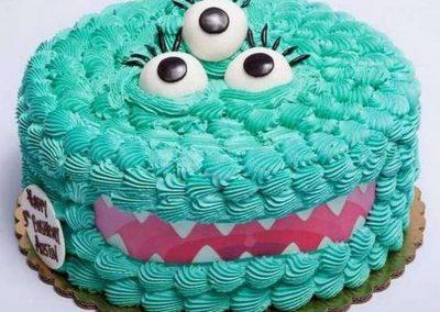 Idée Gâteau monstre rigolo décoration poche à douille 4