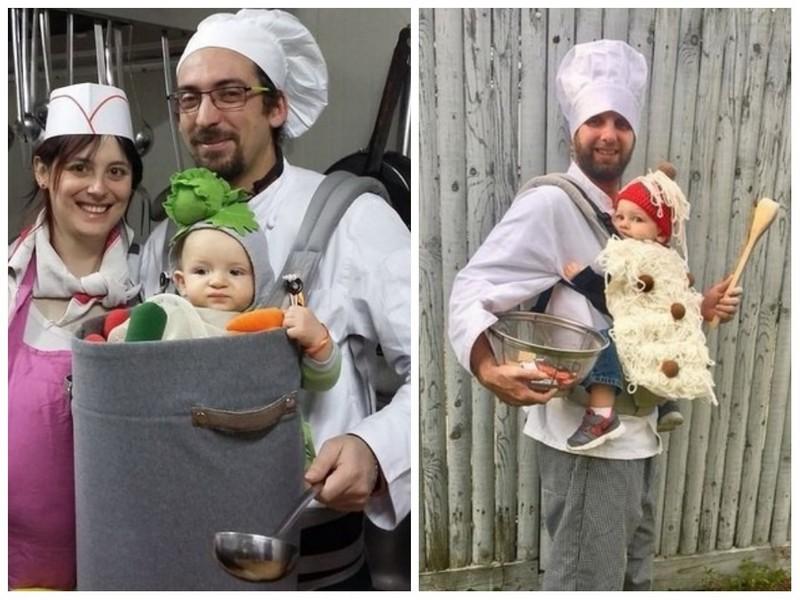 Déguisement porte-bébé gourmand version plat cuisiné - Ma Folie Des Fêtes