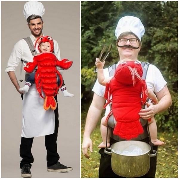 Déguisement porte-bébé gourmand version homard - Ma Folie Des Fêtes