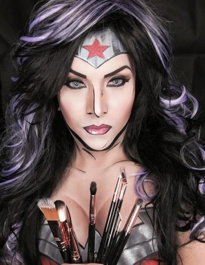 Idée Maquillage Pop Art de Wonder Woman (10)