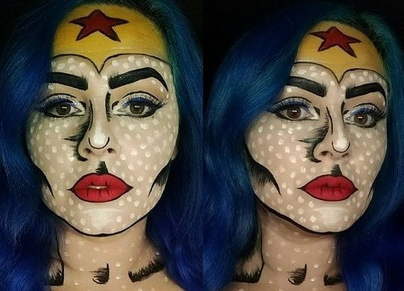 Idée Maquillage Pop Art de Wonder Woman (13) - Ma Folie Des Fêtes
