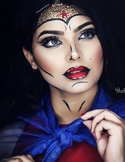Idée Maquillage Pop Art de Wonder Woman (3)