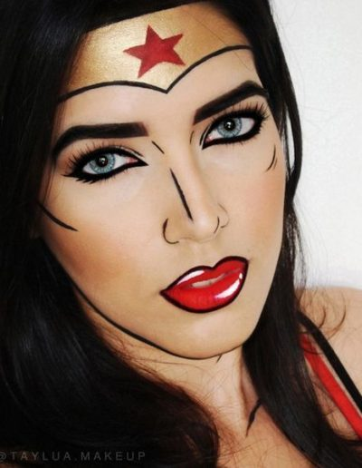 Idée Maquillage Pop Art de Wonder Woman (8)