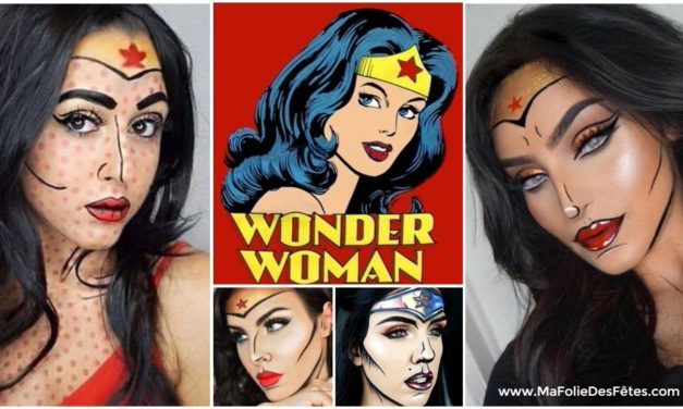 ★  Le maquillage Pop Art de Wonder Woman : des idées et tutos DIY ★