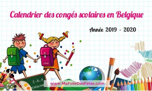 ★ Agenda 2019-2020 : Congés scolaires en Belgique ★