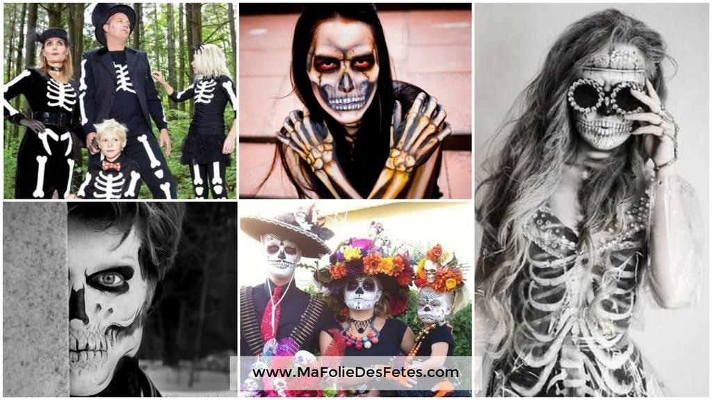 Idée déguisements pour Halloween Squelette Ma Folie Des Fêtes