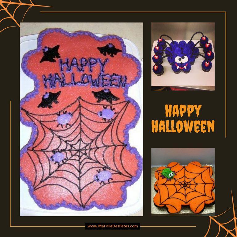 Gateaux cupcakes Halloween araignee - Ma Folie Des Fetes