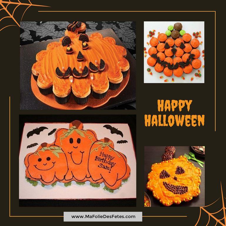 Gateaux cupcakes Halloween citrouille - Ma Folie Des Fetes