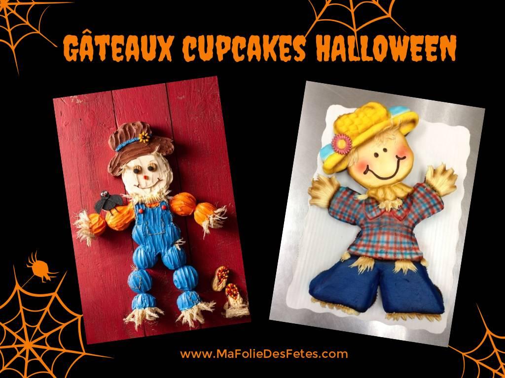 Gateaux cupcakes Halloween epouvantail - Ma Folie Des Fetes