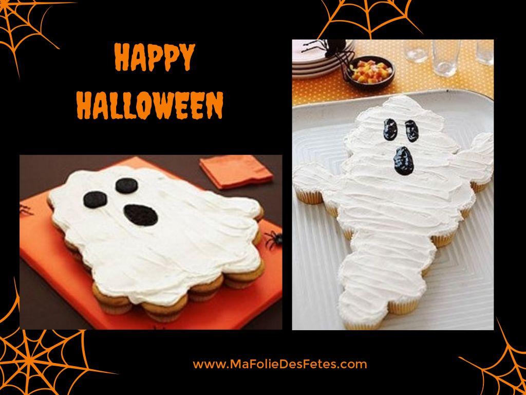 Gateaux cupcakes Halloween fantome - Ma Folie Des Fetes