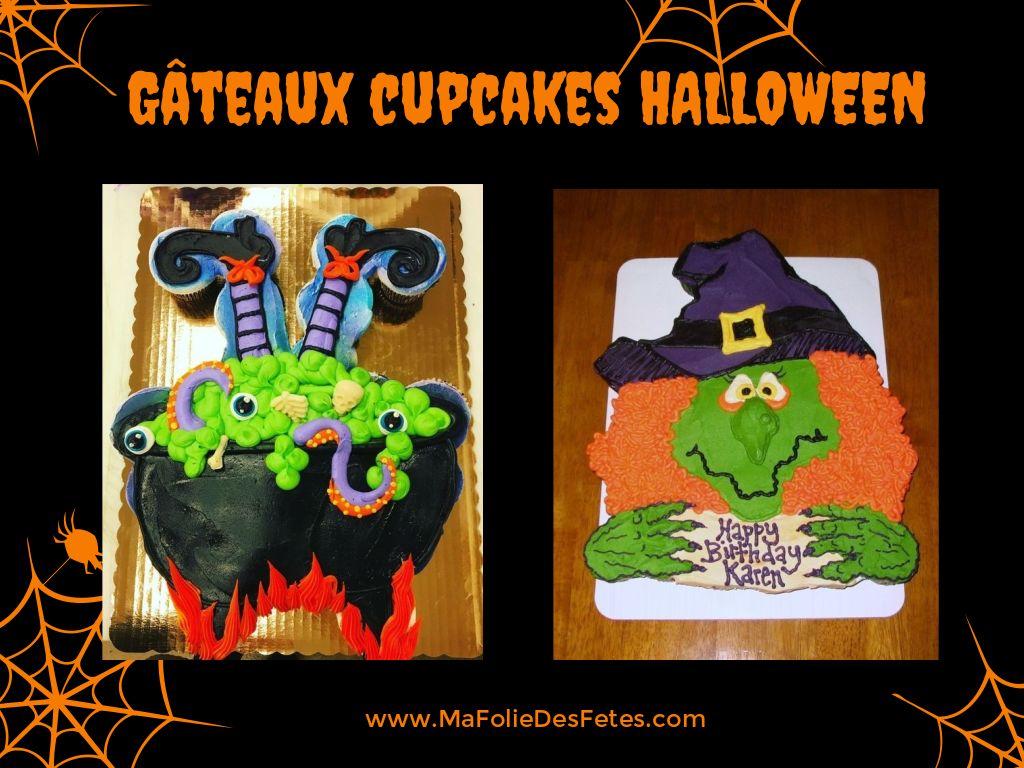 Gateaux cupcakes Halloween sorciere - Ma Folie Des Fetes