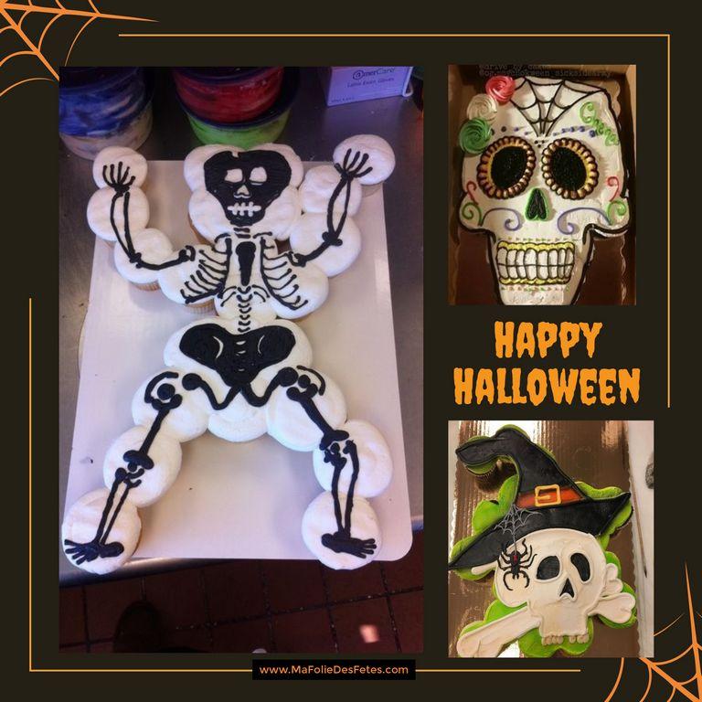 Gateaux cupcakes Halloween squelette - Ma Folie Des Fetes