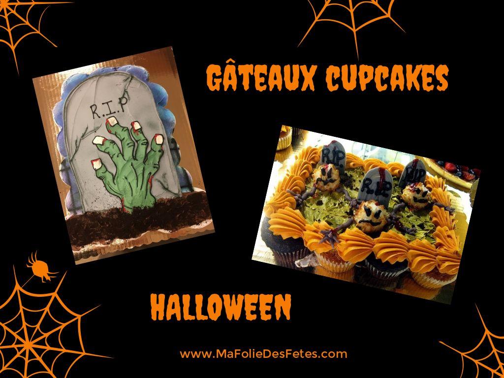 Gateaux cupcakes Halloween tombe - Ma Folie Des Fetes