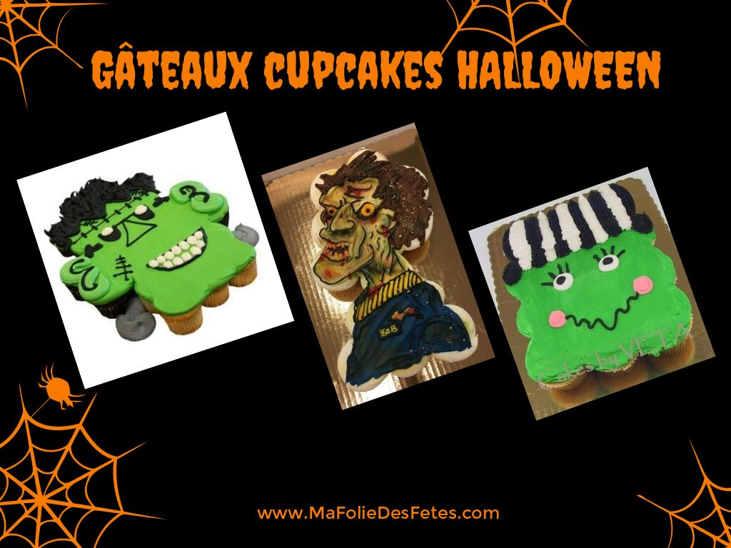 Gateaux cupcakes Halloween zombie - Ma Folie Des Fetes