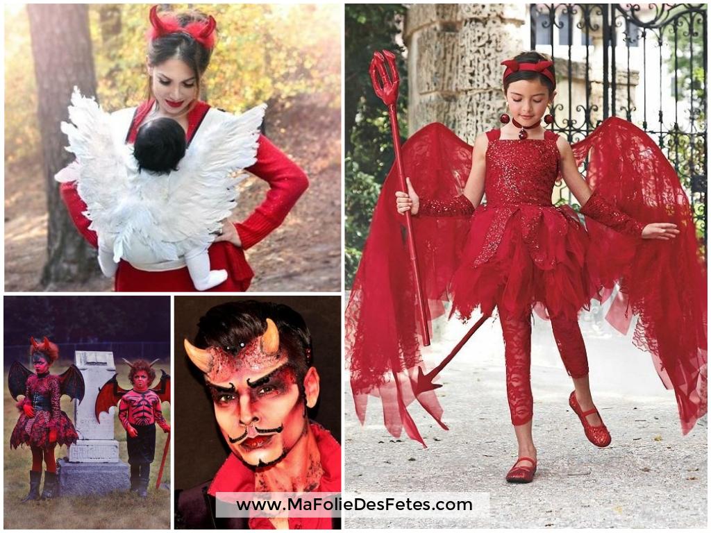 Idées déguisements pour Halloween Diable - Ma Folie Des Fêtes