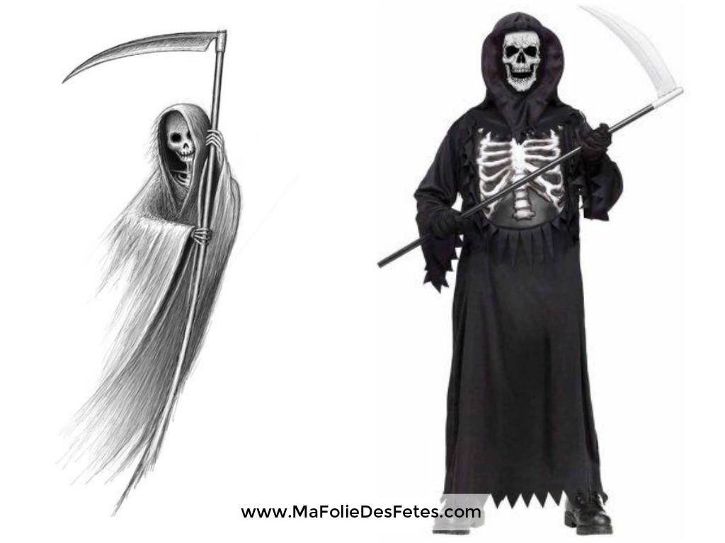 Idées déguisements pour Halloween Faucheuse - Ma Folie Des Fêtes