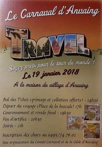 Carnaval d'Anvaing - image affiche carnaval 2019 - Ma Folie Des Fetes