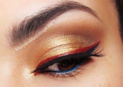 Idée maquillage Wonder Woman coloré - 1
