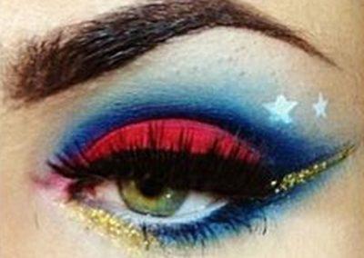 Idée maquillage Wonder Woman coloré - 3
