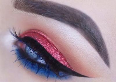 Idée maquillage Wonder Woman coloré - 4