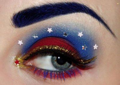 Idée maquillage Wonder Woman coloré - 5